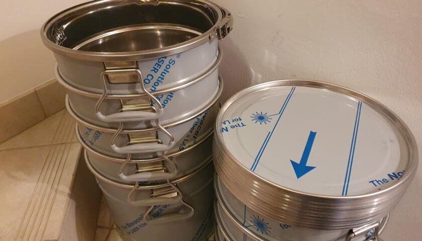 Edelstahl-Lagerbehälter