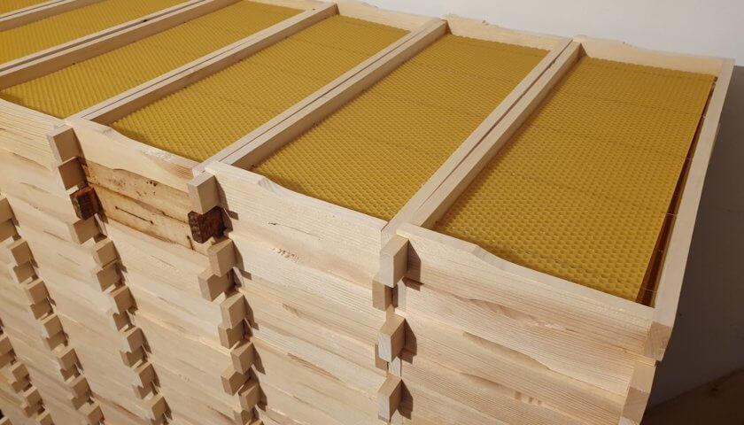 Bienenwachs-Mittelwände